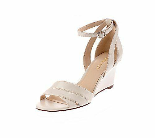 ti renderà soddisfatto Nine West Roles bianca Strappy Elegant Open Toed Ankle Strap Strap Strap Wedge Sandals 10 M  ecco l'ultimo