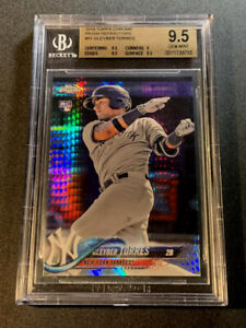 GLEYBER-TORRES-2018-TOPPS-CHROME-31-PRISM-REFRACTOR-ROOKIE-RC-BGS-9-5-YANKEES