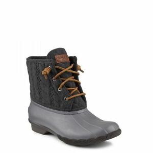 ac02f2e27599 NIB Sperry Top-Sider Saltwater Rope Duck Boot Gray Charcoal Brown ...