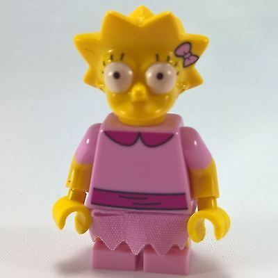 Genuine Lego 71009 Minifigure The Simpsons Series 2 no.3 Lisa Simpson Pink Dress