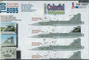 JAS-39A/C Colorfull Gripens 1/72 Two Bobs 72-067