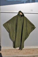 Genuine Canadian Army Wet Weather Rain Poncho OD Very Good Condition