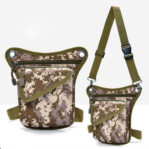 Tactical Outdoor Drop Leg Bag Thigh Pouch Utility Waist Belt Military Bag