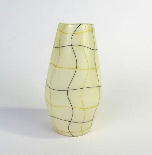 Glas Lampenschirm 50er Jahre farbige Streifen Tütenlampe*  Ersatzschirm