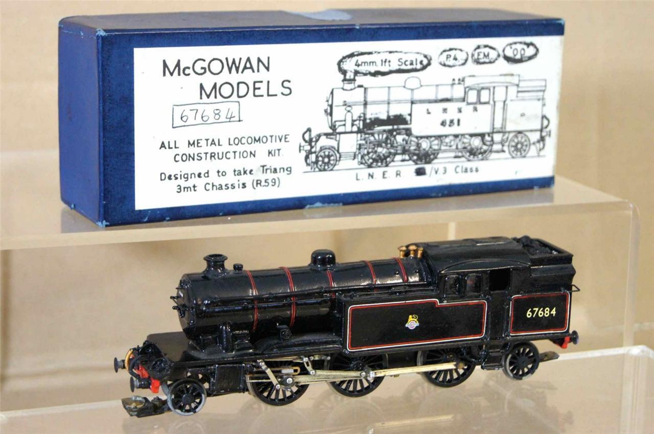 Mcgowan Modelos Kit Built Br Ex Lner 2-6-2 Clase V1 V3 Locomotora 67684 Caja Mv