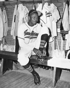 lowest price c049d 717c7 Details about 1948 Cleveland Indians SATCHEL PAIGE Glossy 8x10 Photo  Baseball Rookie Print