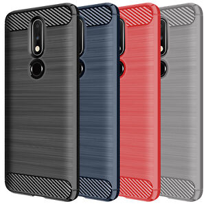 newest 0d9d7 5c3e0 Details about For Nokia 7.1 Carbon Fibre Slim Soft TPU Rugged Gel Case  Silicone Back Cover New