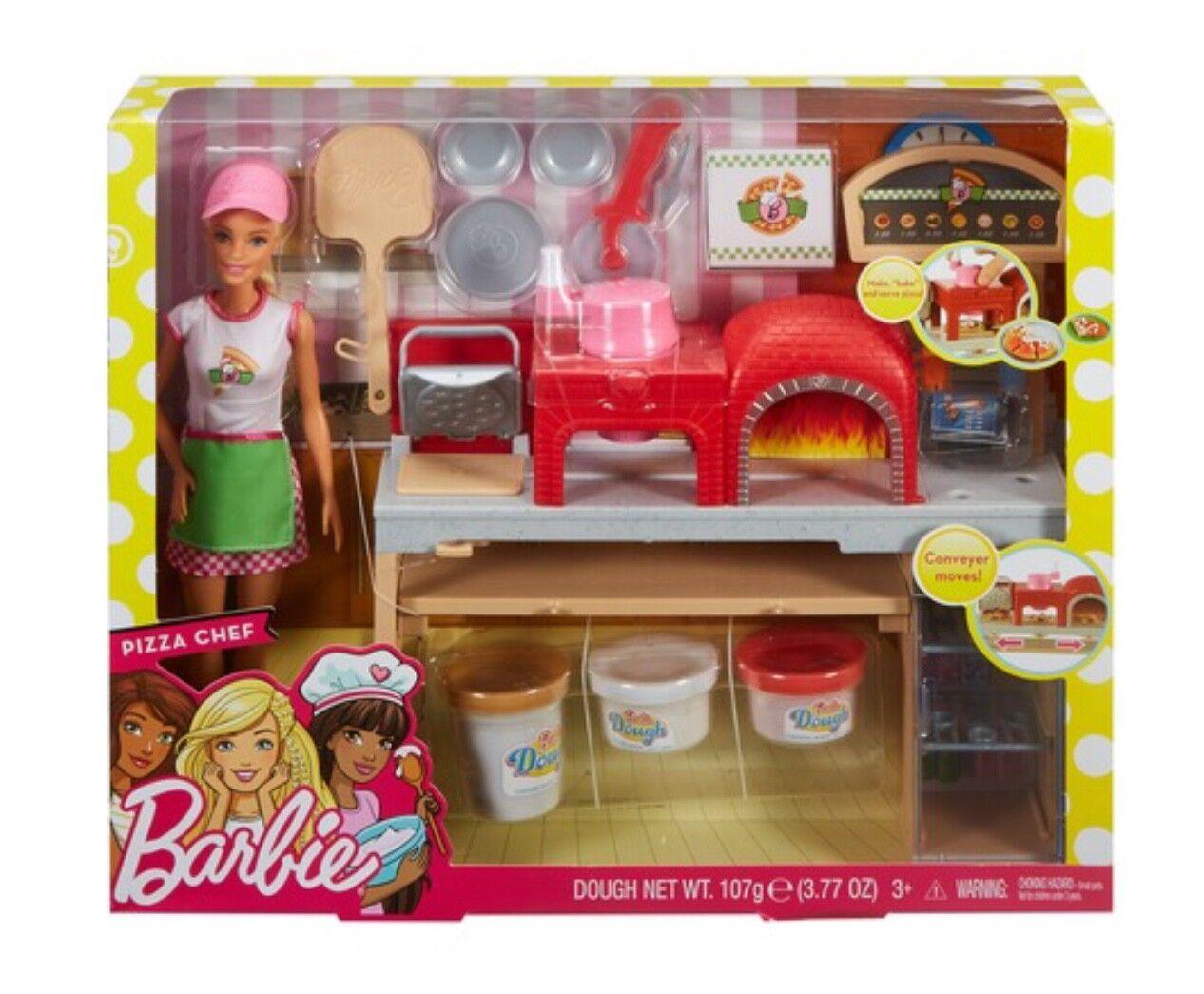 Neuer Barbie Pizza Koch und Spielset, Blond