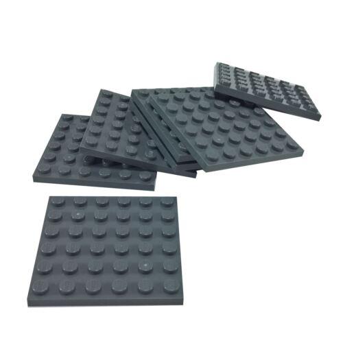 7 NEW LEGO Plate 6 x 6 Dark Bluish Gray