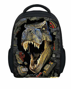 Dinosaur Dog Print Girls Kids Cool Small Backpack School Bag Nursery