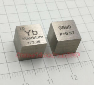 1 Piece 99.2/% High Purity Zirconium Zr 10mm Cube Carved Element Periodic Table