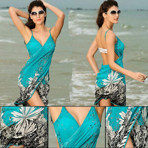 d0019826dd Image is loading Summer-Women-Bathing-Suit-Bikini-Swimwear-Cover-Up-
