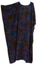 Leaf Print Kaftan Dress Long Ladies Cover Night  Leaves leopard Floral One Size