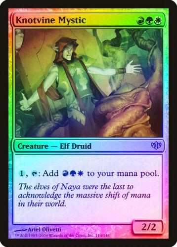 Knotvine Mystic FOIL Conflux NM-M White Red Green Uncommon MAGIC CARD ABUGames