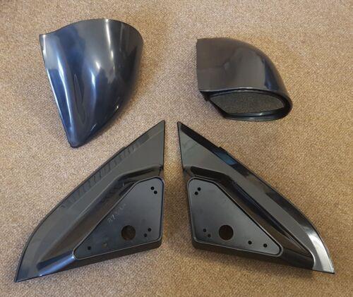 Manual Negro estilo DTM Espejos /& placas base se ajusta Opel Vectra C 2002 en