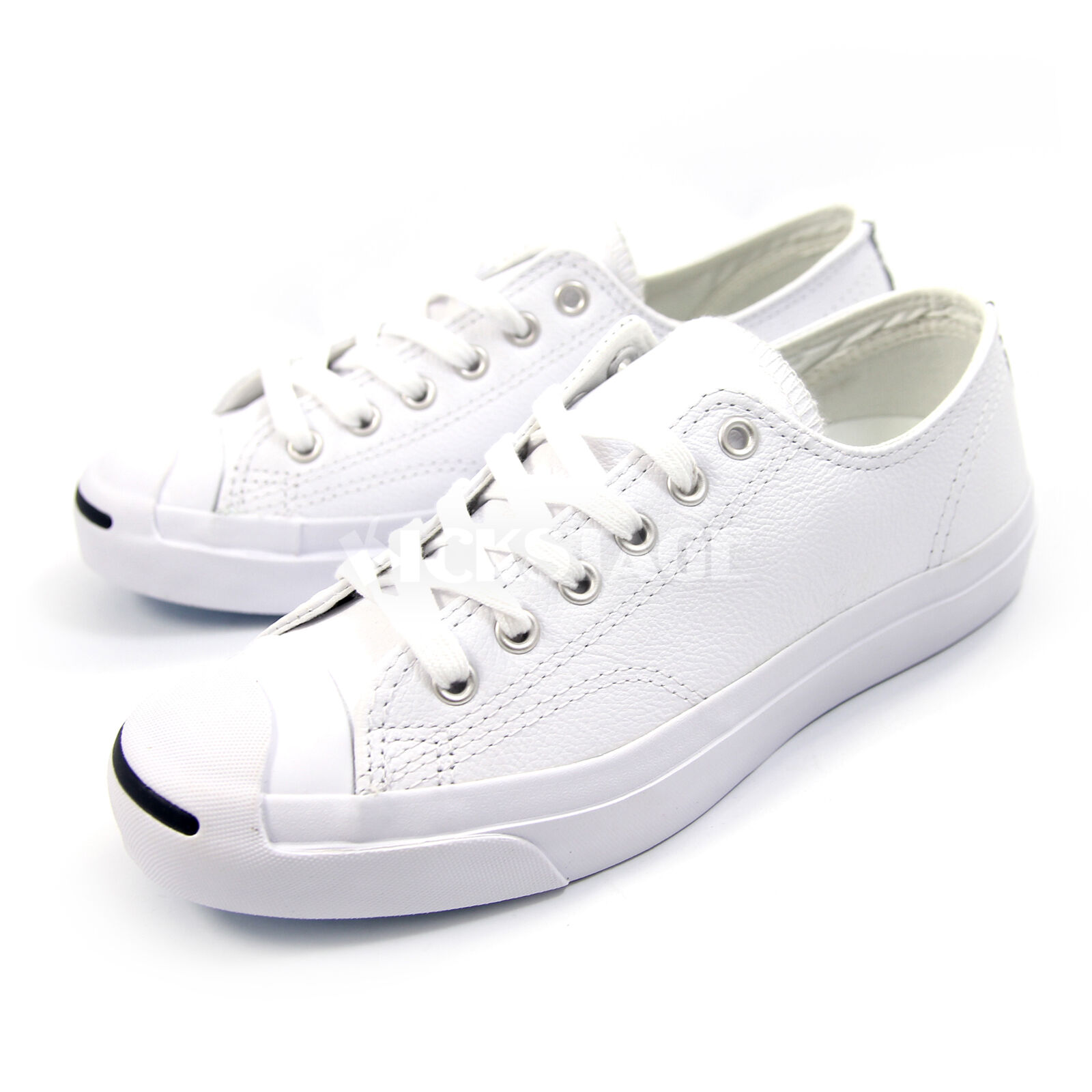 Converse Uomo Donna Jack Purcell Pelle White Classic Shoes  1S961