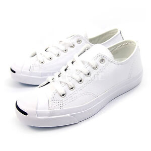 b02298b3c50f Caricamento dell immagine in corso Converse-Mens-Womens-Jack-Purcell-Leather -White-Classic-