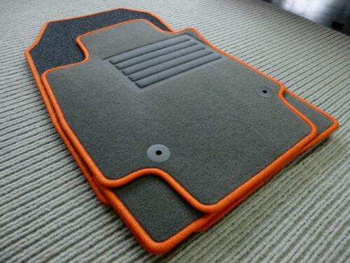 NEU $$$ Original Lengenfelder Fußmatten passend für Opel Corsa D Rand ORANGE