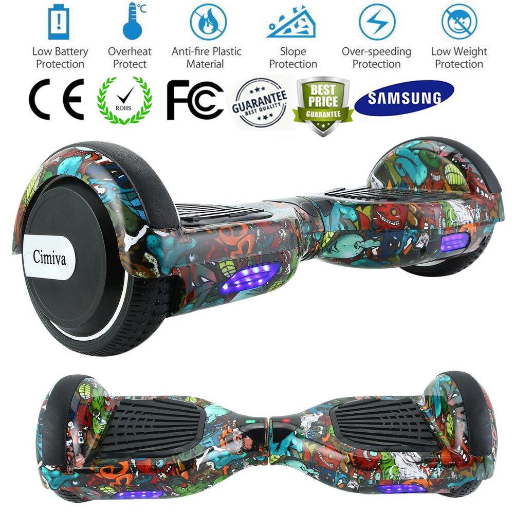 6,5'' Zoll Hoverboard E-Skateboard Self Self Self Balance Scooter LED Offroad Samsung AKKU 4b8e0b