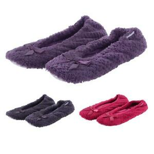 d9f6f41a6e0d Image is loading Totes-Isotoner-Ladies-Ballet-Slippers-Popcorn-Terry-Towel-