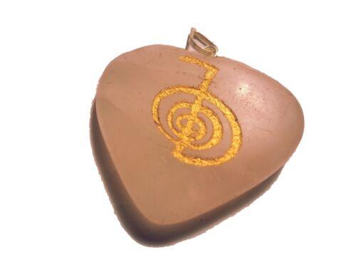 Herz Anhänger Öse mit Reiki Symbol pendentif pendolo ciondolo colgante cuore