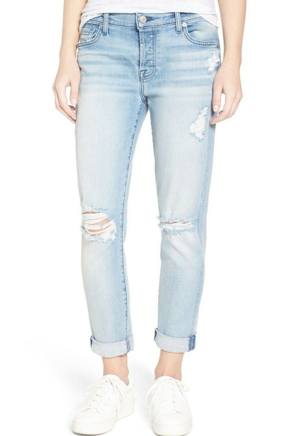 219 NWT 7 FOR ALL MANKIND Sz26 JOSEFINA SKINNY-BOYFRIEND JEANS BRIGHT BRISTOL 2