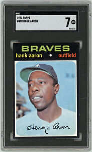 1971 BRAVES Hank Aaron card Topps #400 SGC 7 NM Near Mint Atlanta vintage