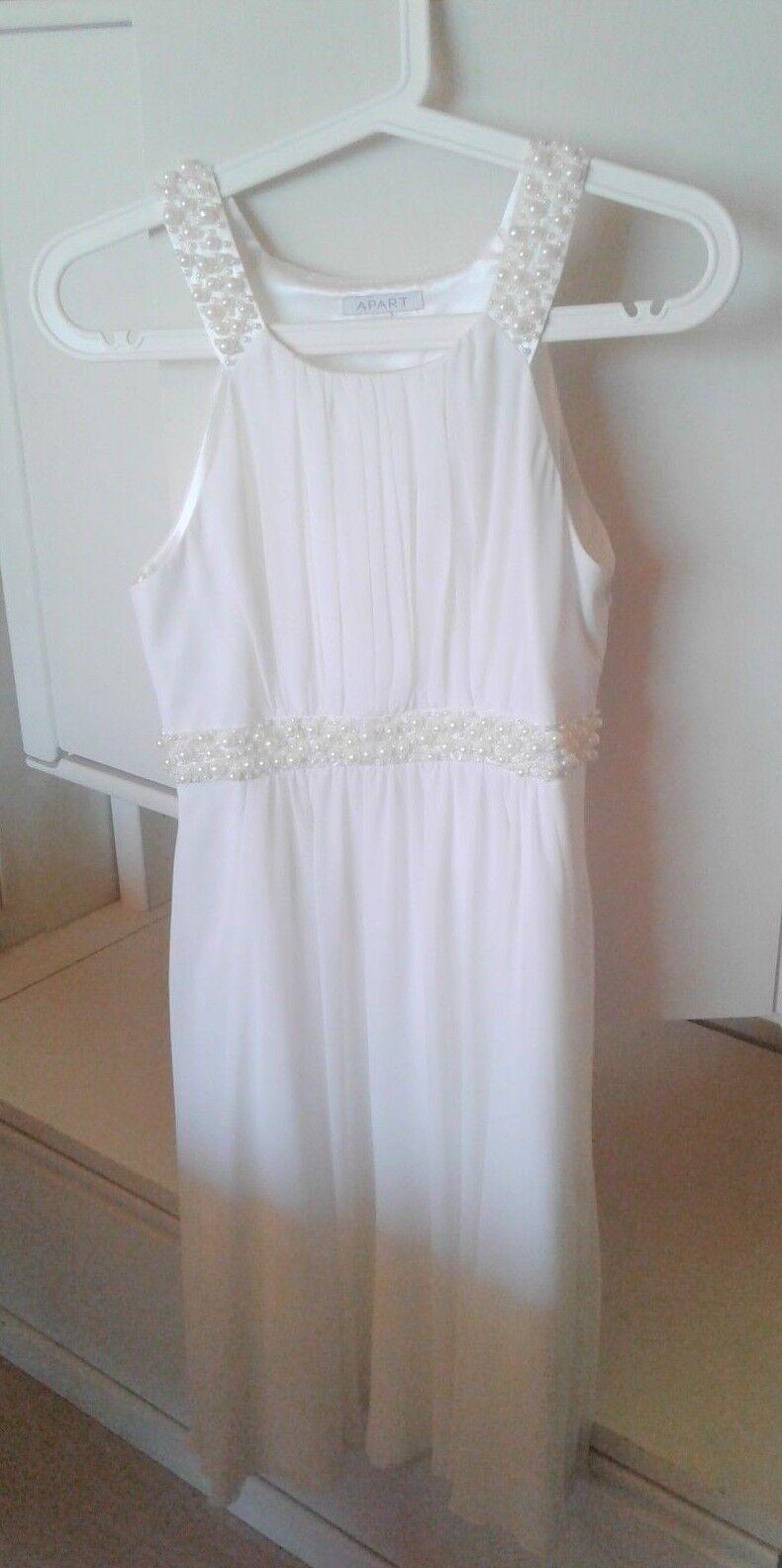 APART Kleid Abendkleid weiß Größe 34