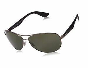 8a23d62e07 Ray-Ban Active Lifestyle Aviator Sunglasses in Matte Gunmetal Green ...