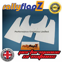 Rally Style Mud flaps to fit CITROEN C4 Coupe Mudflaps Set of 4 White 3mm PVC