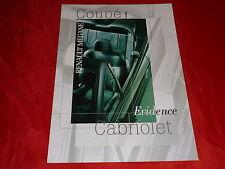 "RENAULT Megane Coupe + Cabriolet ""Evidence"" Sondermodelle Prospekt von 2000"