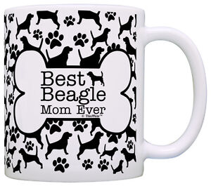 Dog Owner Gifts Best Poodle Dad Ever Paw Pattern Coffee Mug Tea Cup