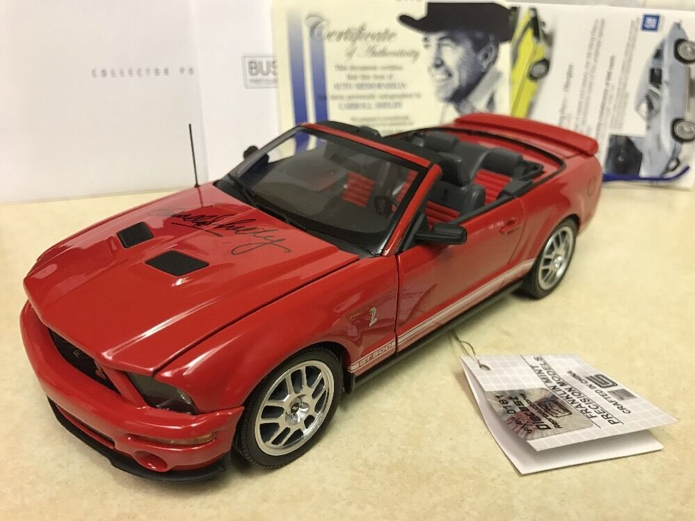 tienda de ventas outlet 1 24 24 24 Franklin Mint Autografiado Rojo 2007 Shelby Mustang GT500 Converdeible Firmado  autorización oficial