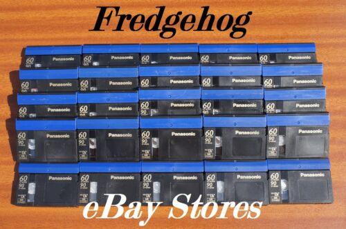 JOBLOT de 25 PANASONIC DVM-60 Mini DV Digital Video Camcorder las cintas//cassettes