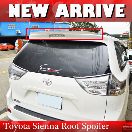 Fit For Toyota Sienna XL30 all models Painted Rear K-Type Roof Lip Spoiler PUF
