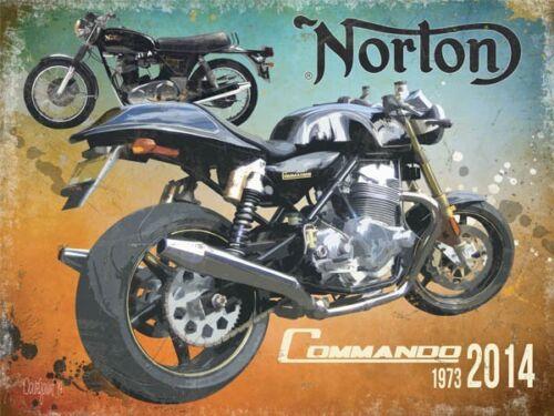 og 4030 Norton Commando 1973-2014 grand panneau en acier