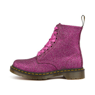 New Dr Marten Pascal 8 Eye Boot Purple Multi Womens Shoes Casual Boots Ankle