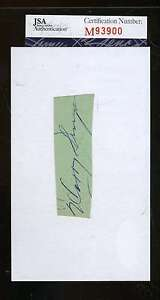 Harry-Simpson-Signed-3x5-Index-Cut-Jsa-Certified-Authenticated-Autograph