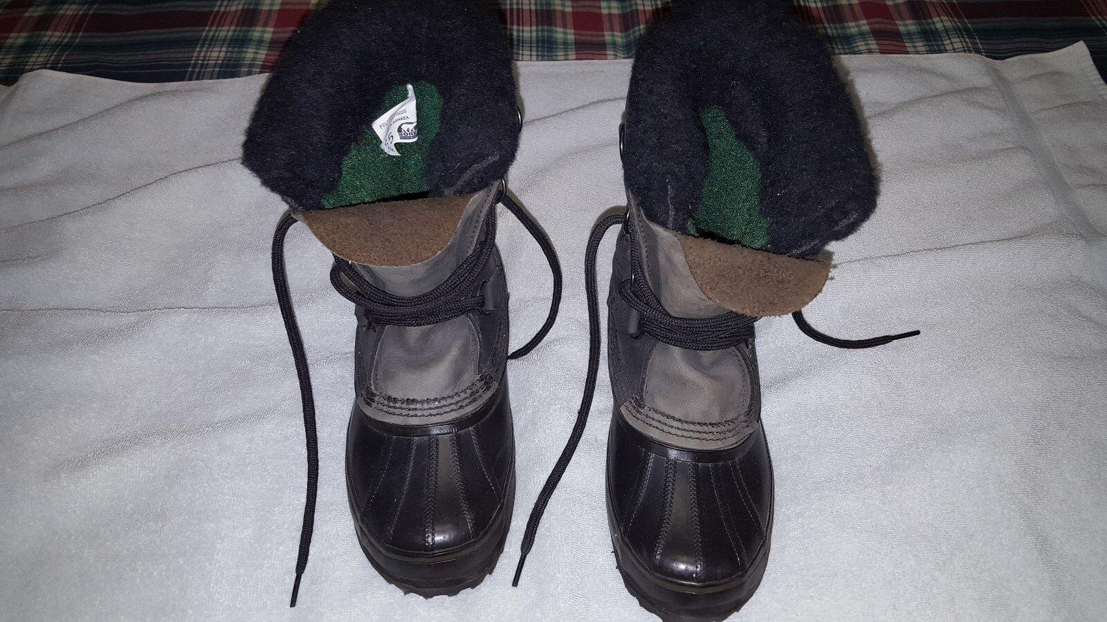 Sorel Para Mujer 5 Winter Lace Vibram Botas Negro Vibram Lace Exclusivo Nuevo 50d135
