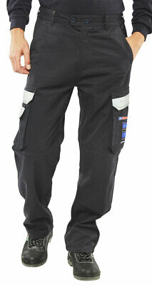 "34/"" Work Trousers Fire Retardant Anti-Static Protal Protex Workwear Navy FRA214H"