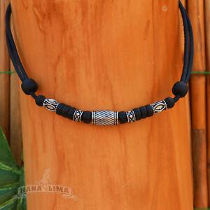 Halskette-ohne-Anhaenger-Surfer-Kette-Halskette-Lederkette-Herrenhalskette-Neu