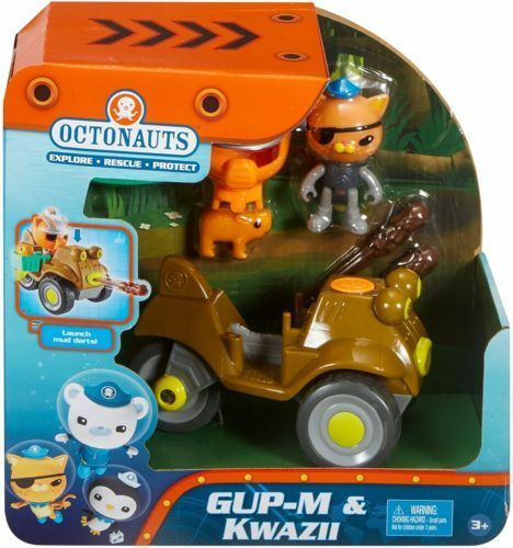 Fisher-Price Octonauts Gup-M & KWAZII Launch Mud Darts Rescue Capybara Toy