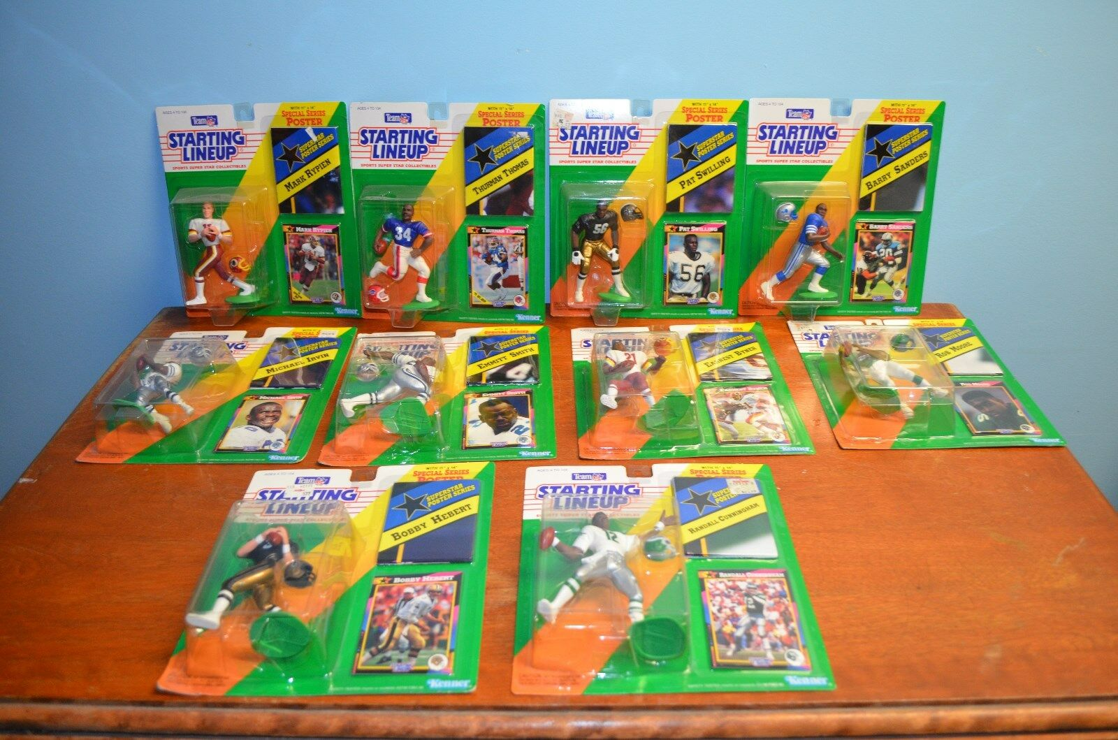 1992 Kenner Football Football Football 10 pieces with card and superstar poster series 81150f