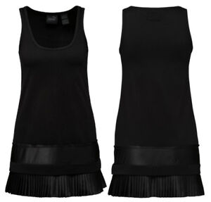 Puma x Rihanna Fenty Womens Pleated Hem Jersey Dress Black 574261 05 ... 06256561df8a