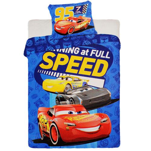 2 PCS Set 100 x 135 cm 100/% coton-W Linge de lit-Disney Cars-Voiture