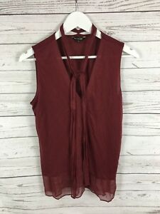 MASSIMO-DUTTI-Top-Size-Medium-Burgundy-Great-Condition-Women-039-s