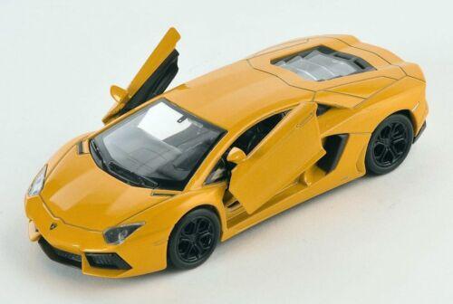 BLITZ VERSAND Lamborghini Aventador LP700-4 gelb Welly Modell Auto 1:34 NEU