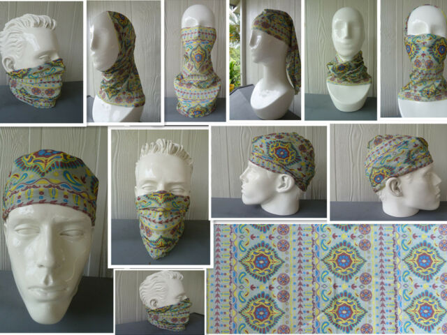 Head/Face/Mask/Neck Multi-wear tube Bandana/Durag.SPF5 Biker motorcycle wrap.