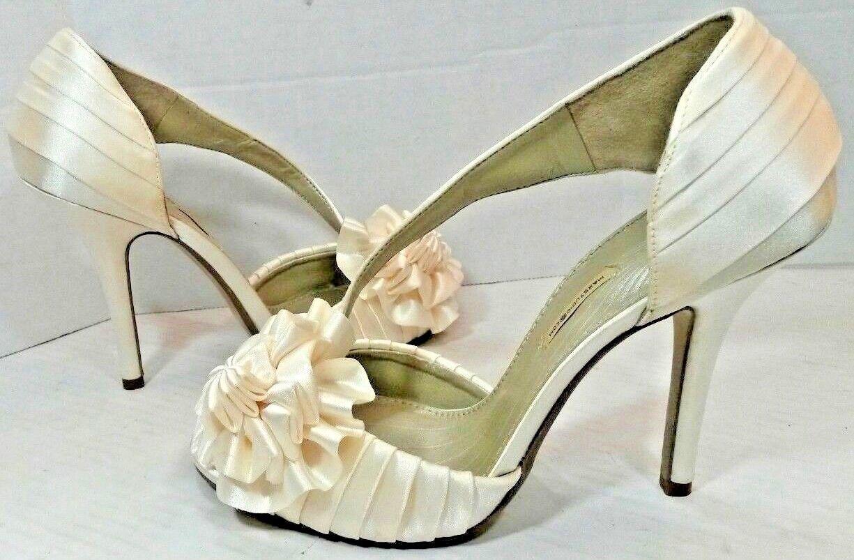 22166a45f03 Max Studio Elba Elba Elba Slip On Peep Toe Pumps Dress Shoes Womens 7M  Pearl Ivory