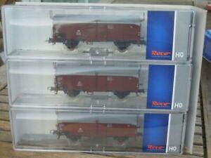 Roco-66196-Set-Schiebedachwagen-3-teilig-Kmmfks-52-Kmmks-51-der-DB-Epoche-3-neu